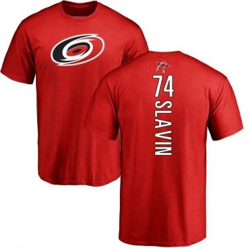 Men's Jaccob Slavin Carolina Hurricanes Backer T-Shirt - Red