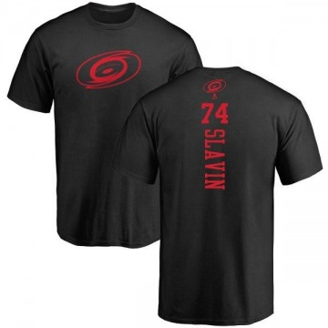 Men's Jaccob Slavin Carolina Hurricanes One Color Backer T-Shirt - Black