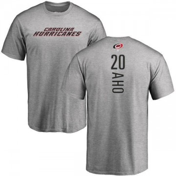 Men's Sebastian Aho Carolina Hurricanes Backer T-Shirt - Ash