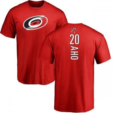 Men's Sebastian Aho Carolina Hurricanes Backer T-Shirt - Red