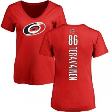 Women's Teuvo Teravainen Carolina Hurricanes Backer T-Shirt - Red