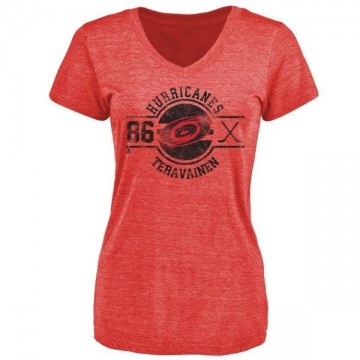 Women's Teuvo Teravainen Carolina Hurricanes Insignia Tri-Blend T-Shirt - Red